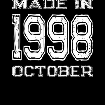 Birthday Celebration Made In October 1998 Birth Year by FairOaksDesigns