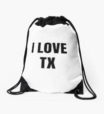 I Love Tx Texas Funny Gift Idea Drawstring Bag