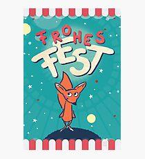 Fuchs im Weltall - Frohes Fest Fotodruck