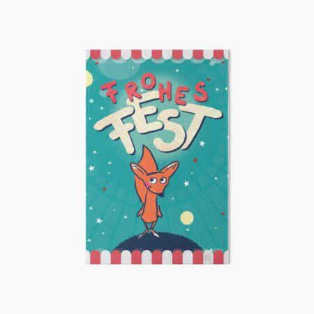 Fuchs im Weltall - Frohes Fest Galeriedruck