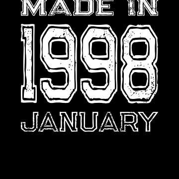 Birthday Celebration Made In January 1998 Birth Year by FairOaksDesigns