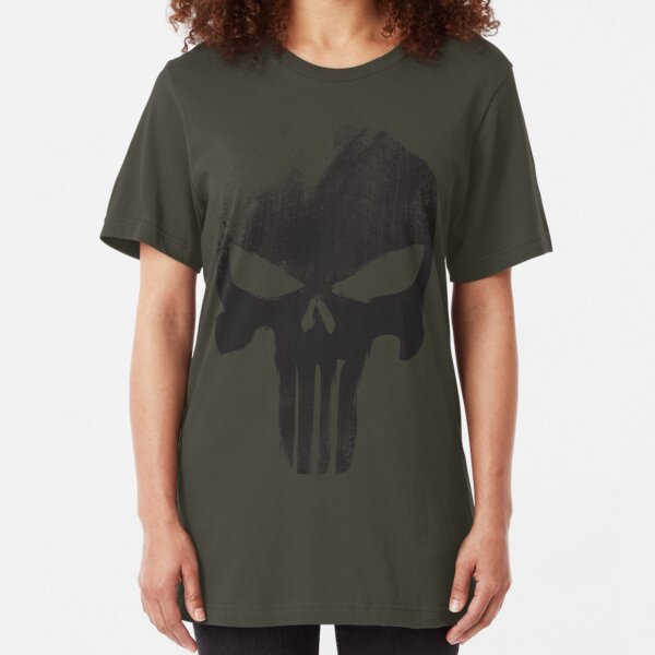 Black Skull Slim Fit T-Shirt