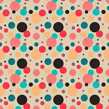 Multicolored Geometric Polka Dot Pattern by quarantine81