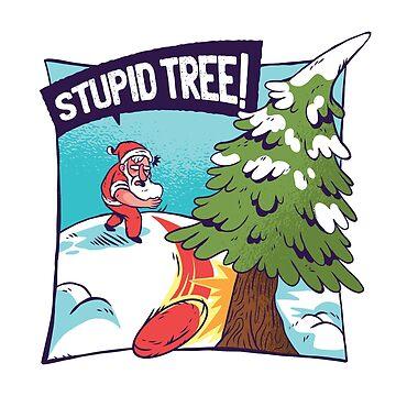 Santa Throwing Rock  by soondoock