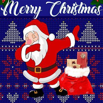 Dabbing Santa Christmas design by Bullish-Bear