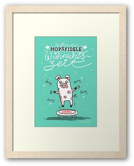 Trampolinschweinchen - Eine HOPSFIDELE Weihnachtszeit von Judith Ganter