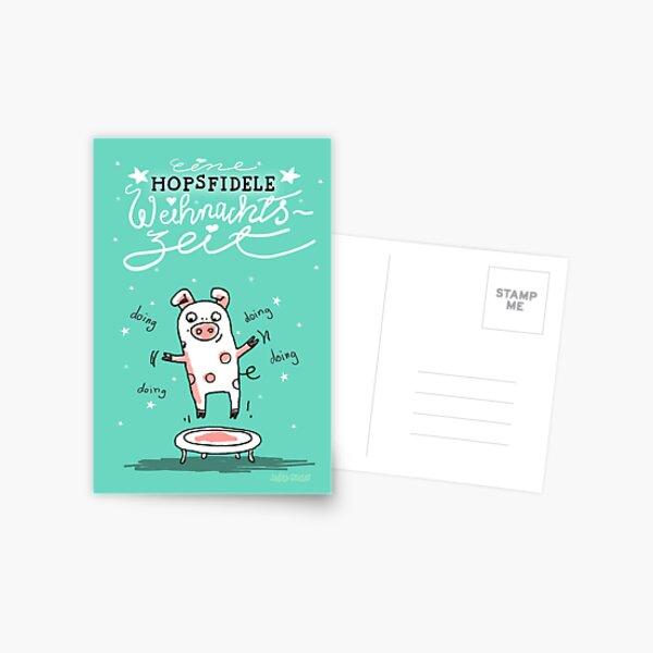 Trampolinschweinchen - Eine HOPSFIDELE Weihnachtszeit Postkarte