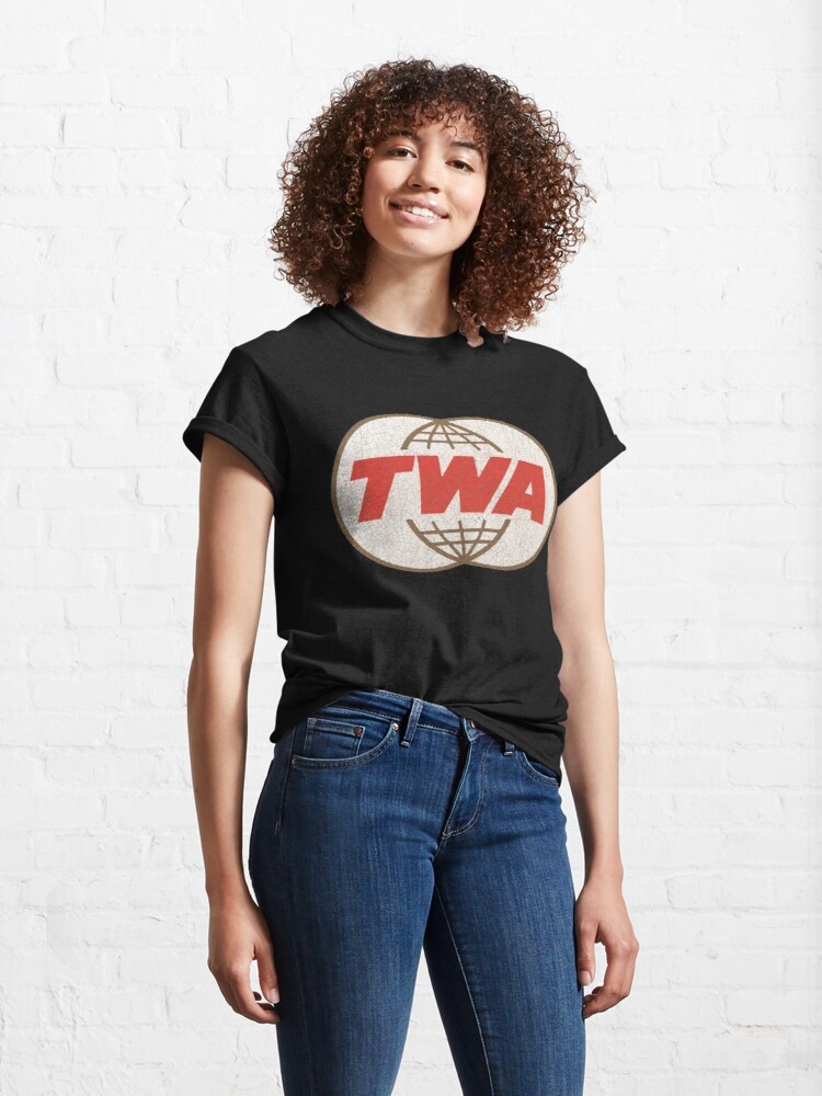 Alternate view of TWA Trans World Airlines USA Classic T-Shirt