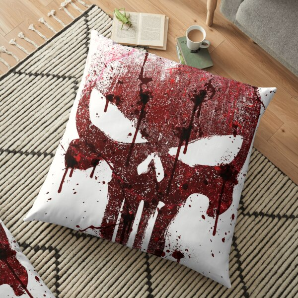Red Skull Floor Pillow