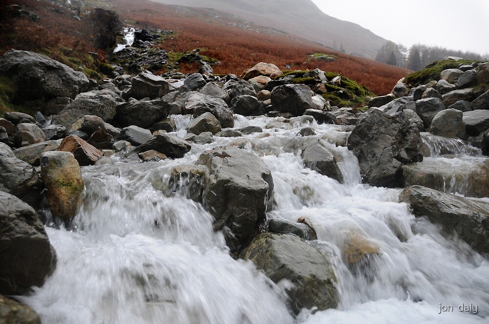 Comb Beck Waterfall by jon  daly