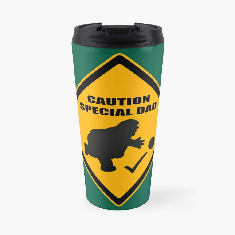 Caution - Special Dad at Play Travel Mug
