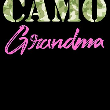 Military Grandma Camo Hard Charger Squared Away Military Family Retired or Deployed support troops patriot on Duty serves country by bulletfast