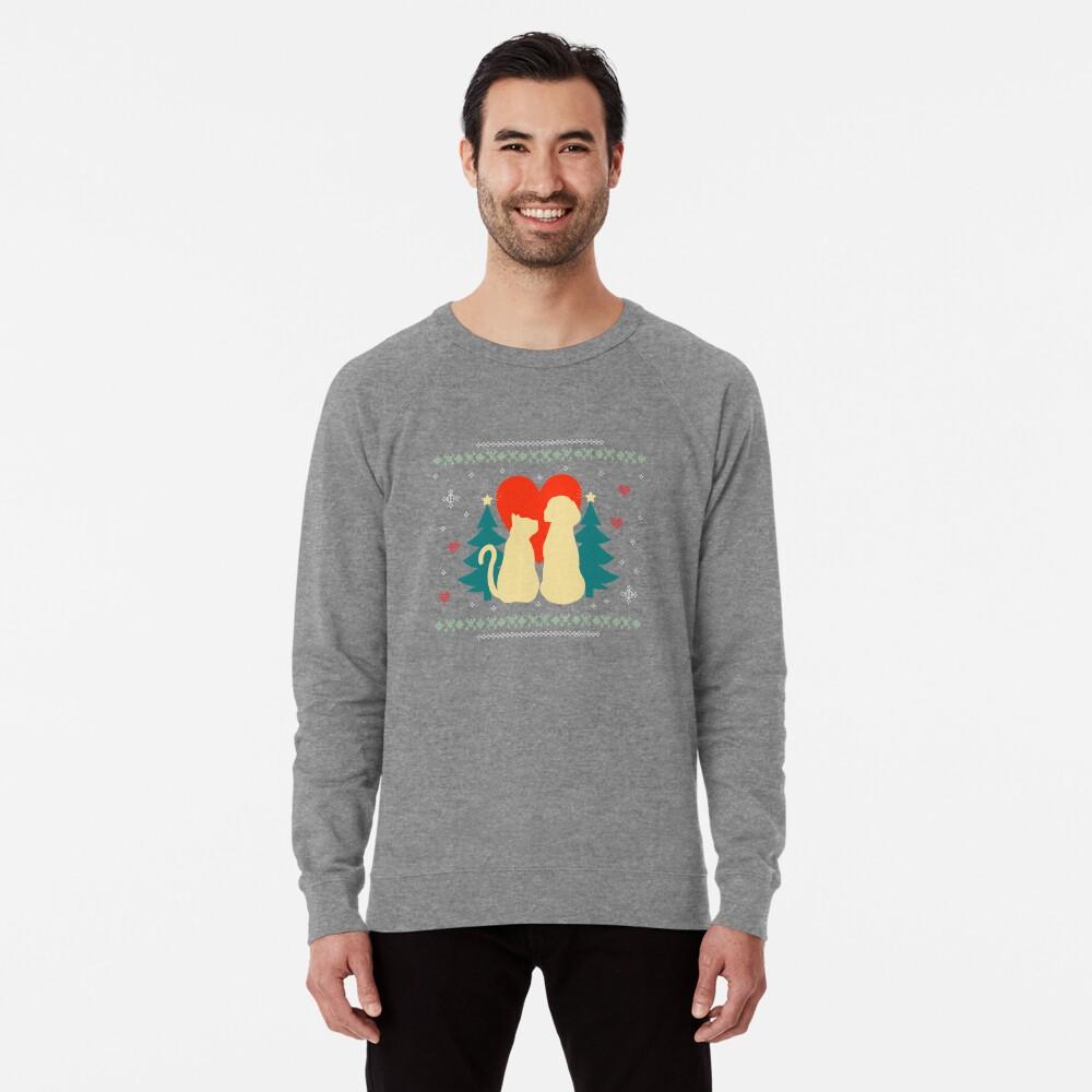 Goofy Christmas T-Shirt For Dog & Cat Lovers Lightweight Sweatshirt
