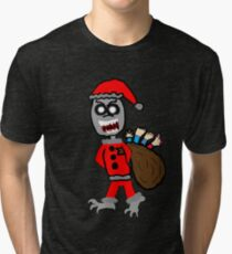 Demon Santa  Tri-blend T-Shirt