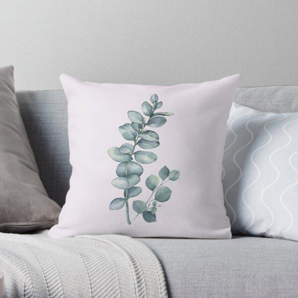 Eucalyptus Twig Throw Pillow