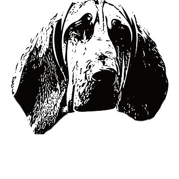 Bloodhound Face Design - A Hubert Christmas Gift  by DoggyStyles