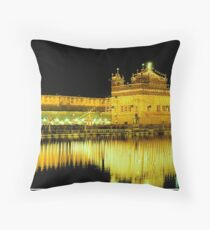 Golden Temple Throw Pillow