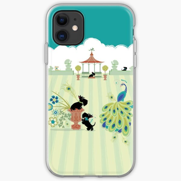 Scotties and Peacocks – Copyright © Bonnie Portraits  iPhone Soft Case