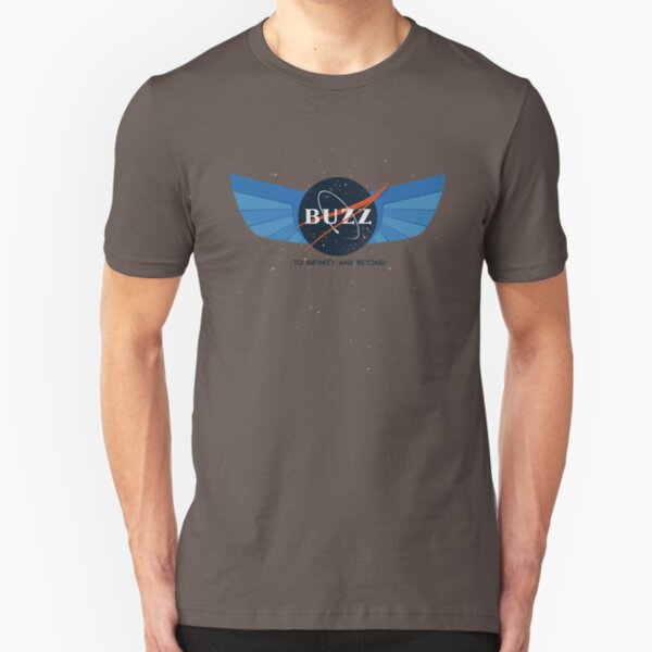 Buzz Nasa Logo Slim Fit T-Shirt