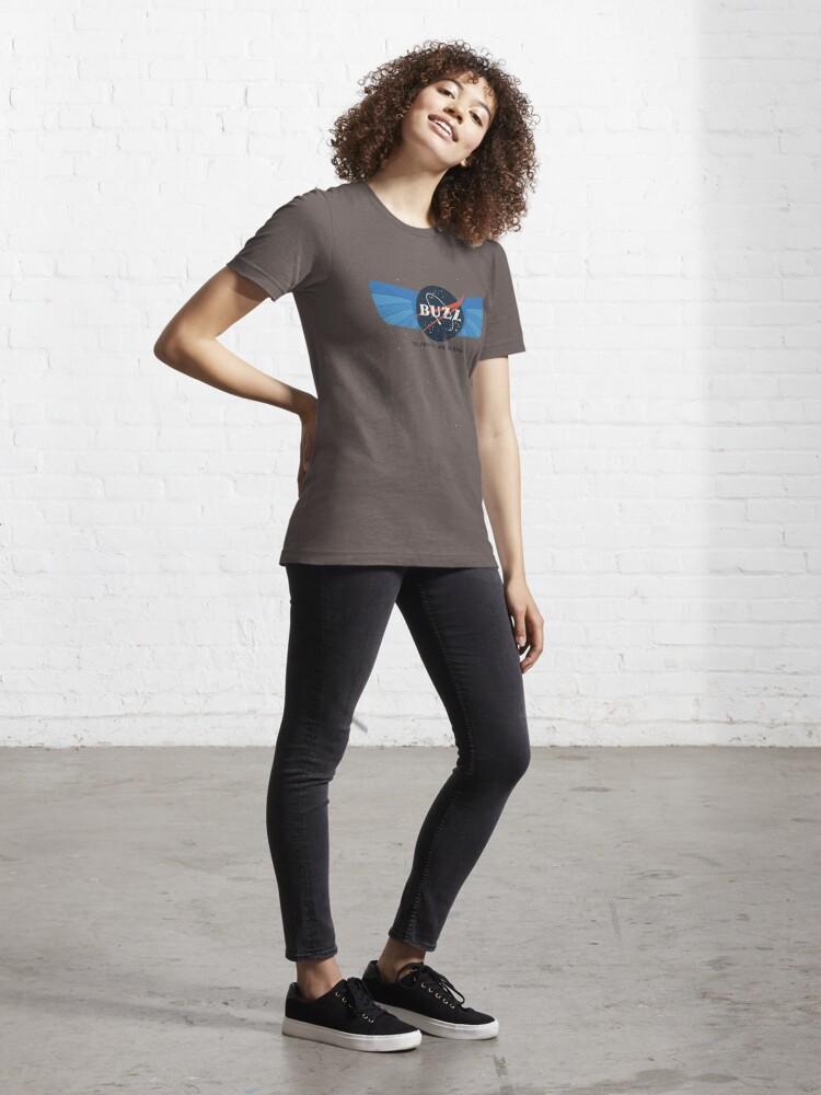 Alternate view of Buzz Nasa Logo Essential T-Shirt