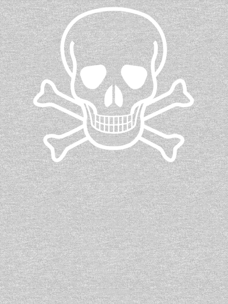 b508b6117585 DANGER, Poison, Warning, SKULL, Skull & Crossbones, Hazard, Pirate,  Buccaneer, symbol, WHITE | Men's Premium T-Shirt