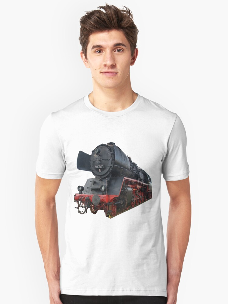 Steam locomotive of the class 50 of German railways-2 Unisex T-Shirt Front