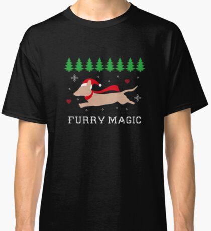 Running Dachshund: Funny Christmas T-Shirt For Dog Lovers Classic T-Shirt