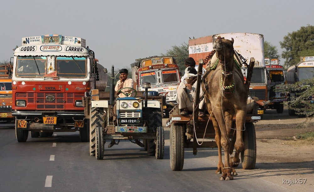 On The Road 1, Rajasthan, India by kojak67