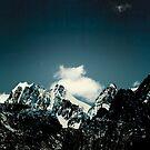 Dark Teal Mountains by Dirk Wuestenhagen