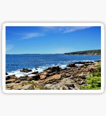 Coastline At Otter Point 5 - Acadia National Park Sticker