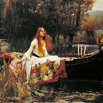 The Lady of Shalott, John William Waterhouse. by TOMSREDBUBBLE