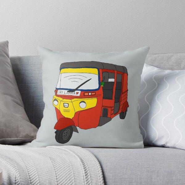 Sri Lankan tuk tuk Throw Pillow
