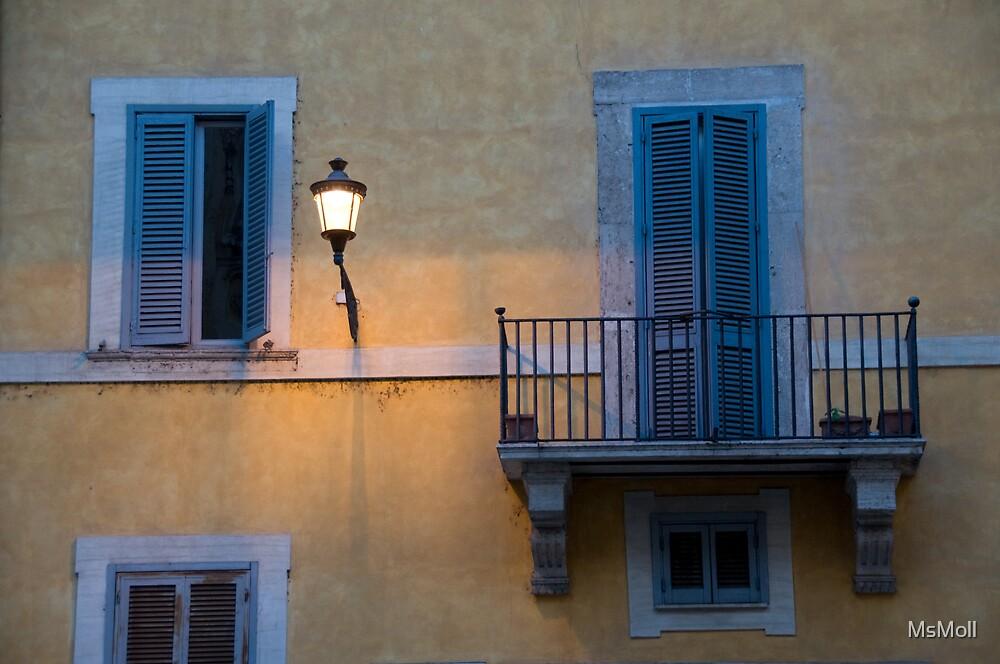 Evening windows by MsMoll