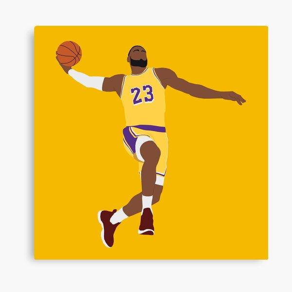 LeBron James - Dunk Canvas Print