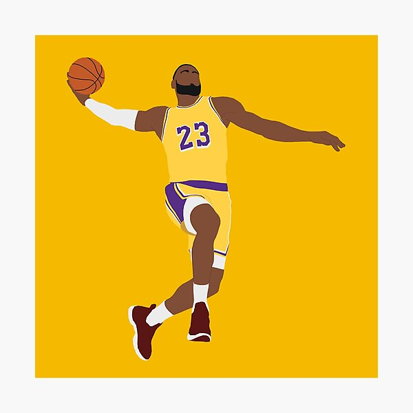 LeBron James - Dunk Photographic Print