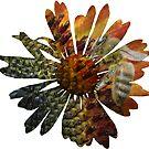Bild in Bild - Blume mit einer Biene von rhnaturestyles
