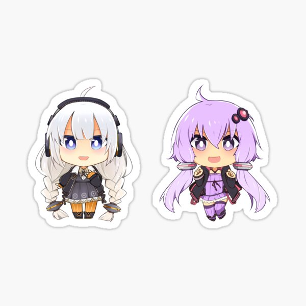 Vocaloid Akari + Yukari Sticker