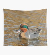 A Chatty Green-Winged Teal Wall Tapestry