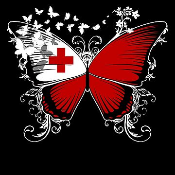 Tonga Flag Butterfly Tongan National Flag DNA Heritage Roots Gift  by nikolayjs