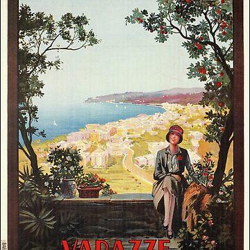 Vintage Italy Italian travel Varazze Riviera by aapshop
