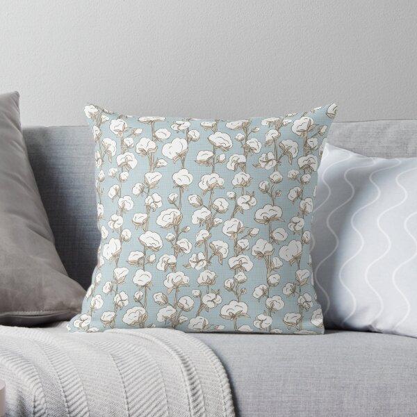 Farmhouse Cotton Stalk Stripe Throw Pillow