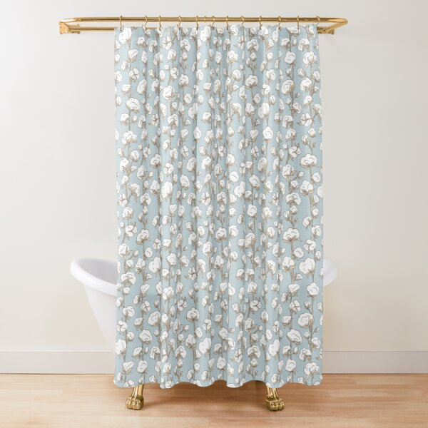 Farmhouse Cotton Stalk Stripe Shower Curtain