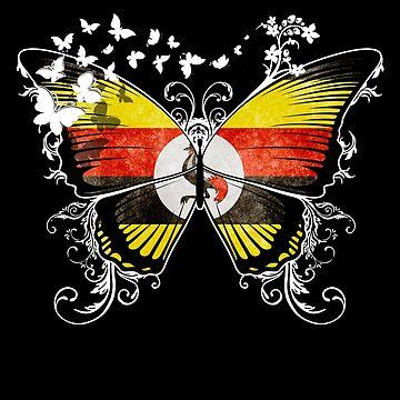 Uganda Flag Butterfly Ugandan National Flag DNA Heritage Roots Gift  by nikolayjs