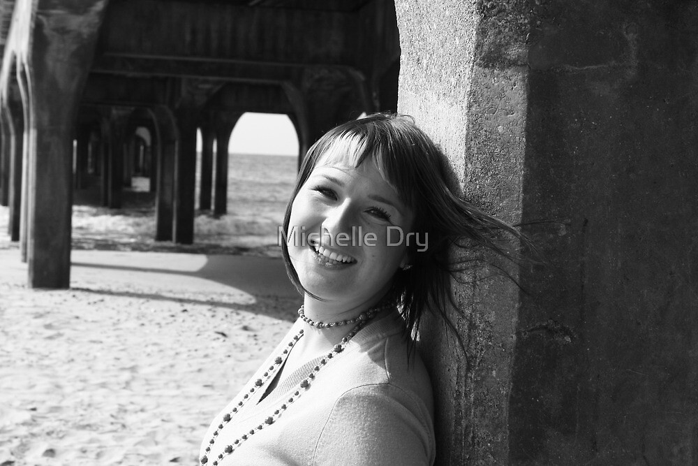 Pier smiles. by Michelle Dry