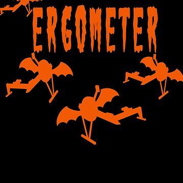 Rowing Halloween Ergometer by Huschild