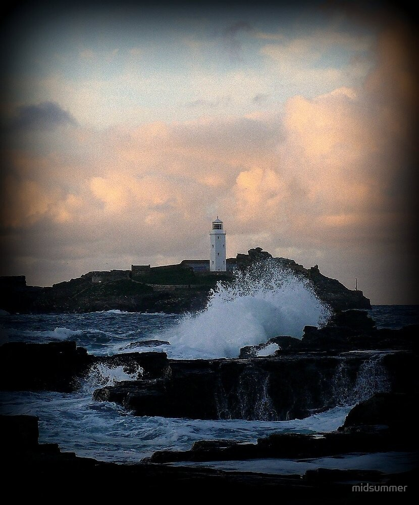 Godrevy Lighthouse, Gwithian, Cornwall by midsummer