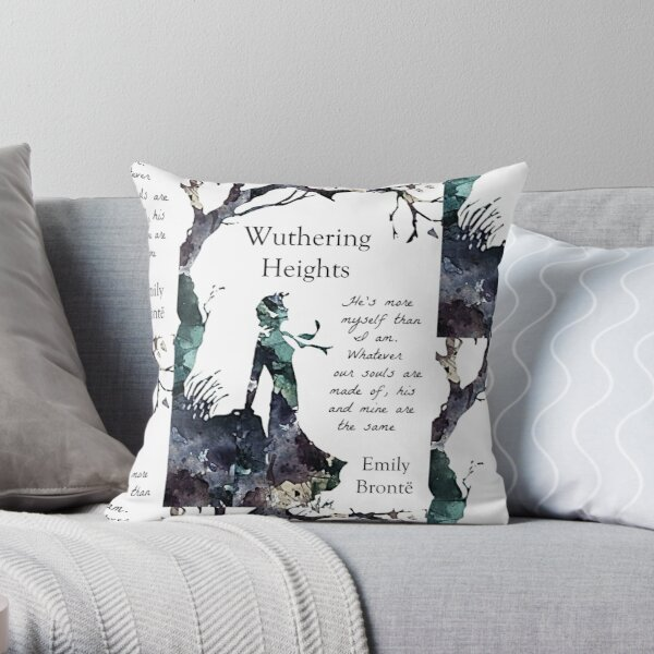 Wuthering Heights, Emily Bronte  Throw Pillow