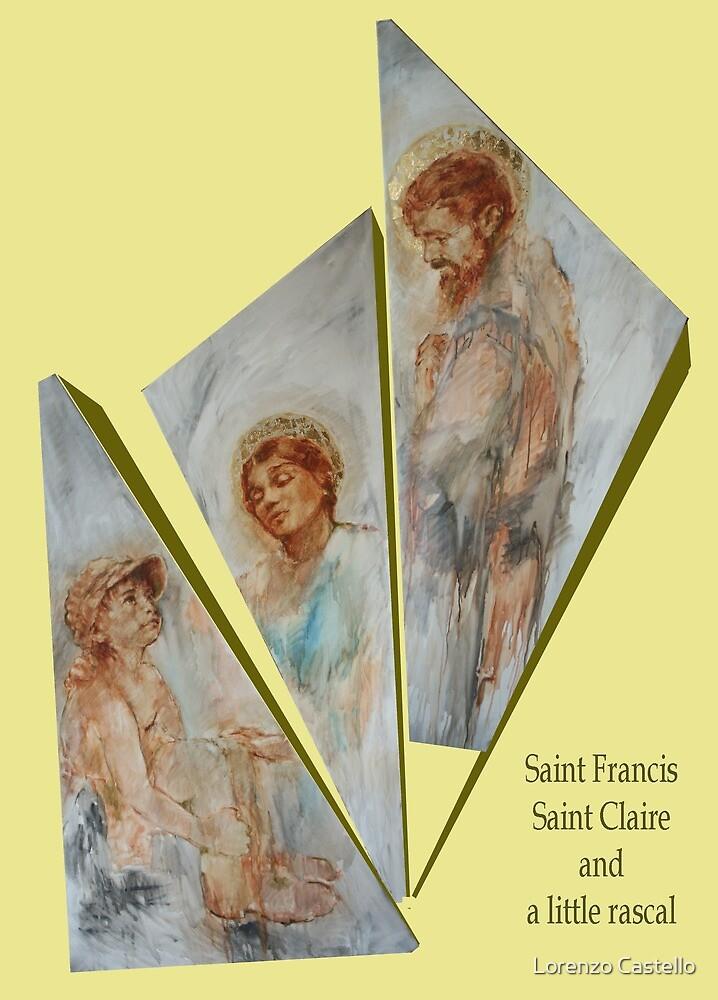 Two saints and a rascal by Lorenzo Castello