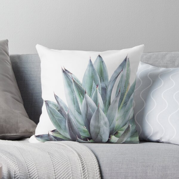 Agave Plant Throw Pillow