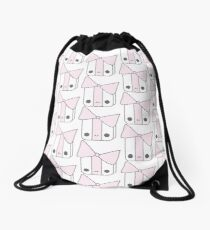 Smiling Gift Light Pink Drawstring Bag
